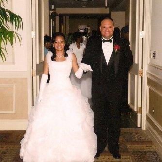 My dad and I at my debutante ball, preparing to enter the ballroom.